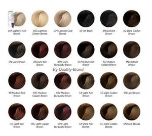 ion hair color ion color brilliance chart brown hairs