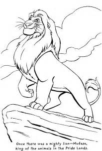lion king animal coloring pages
