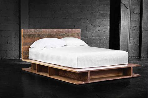 Wood Canopy Bed Frame tierra platform bed