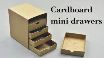 cardboard desk drawers diy cardboard mini drawers tutorial