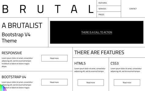 bootstrap v4 themes brutalist websites
