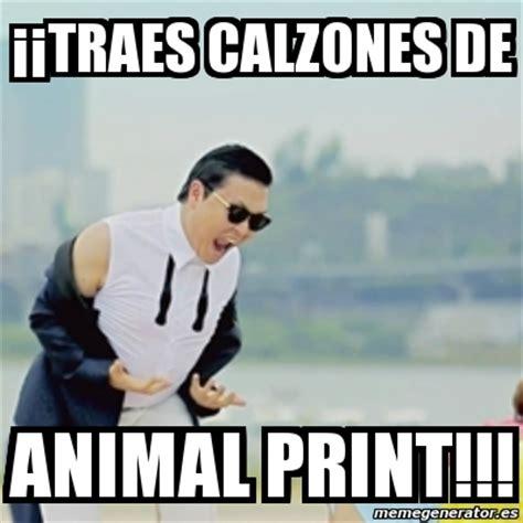 Meme Print - meme gangnam style 161 161 traes calzones de animal print