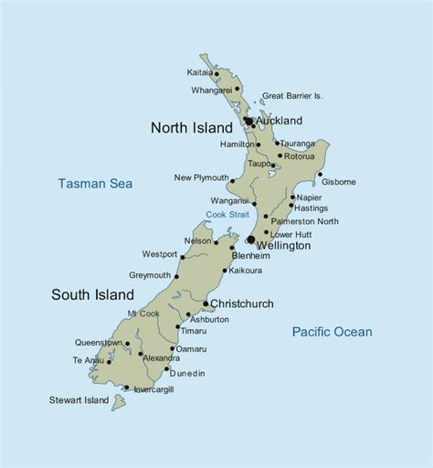 printable maps nz neuseeland karte routen