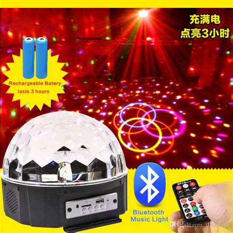 Lu Disco Jamur Multicolor Led Magic Promo 9x led color rgb changing magic rotating led effect stage lights play with