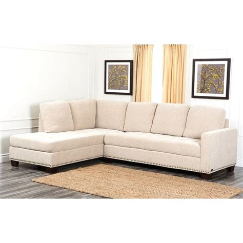 abbyson living sectionals abbyson living macalea linen sectional in cream ci
