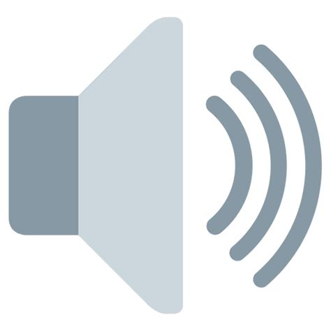emoji of a wave chords speaker with one sound wave emoji for facebook email