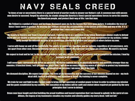 mission with a seal code warrior seals books navy seal creed quotes