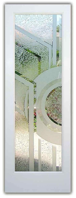 sun odyssey  ii pair etched glass doors modern decor