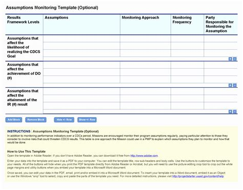 project monitoring plan template 12 project monitoring plan template upere templatesz234