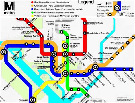 map of dc metro dc metro map line metro map