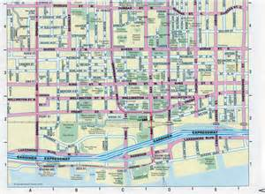 large detailed tourist map of downtown of toronto city