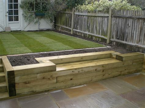 Railway Sleepers Garden Ideas Railway Sleepers 171 Garden Gurus Landscape Gardening In South Sw19 House