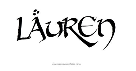 lauren tattoo name designs