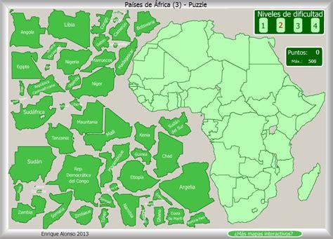 mapa de africa interactivo pa 237 ses de 193 frica puzzle enrique alonso
