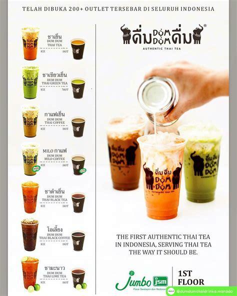 membuat thai tea dum dum kedai dumdum thai drink di manado my current obsession