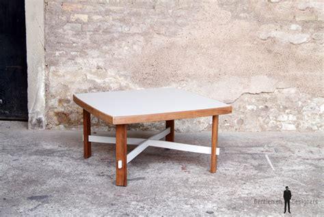 table basse carr 233 bois gris clair gentlemen designers
