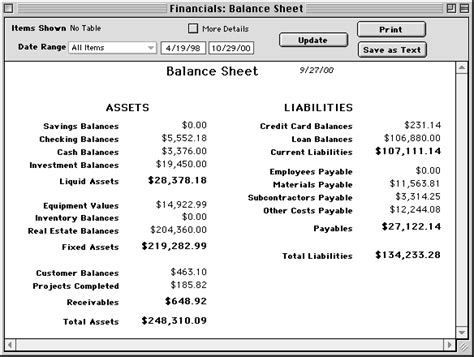 account form balance sheet authorization letter pdf