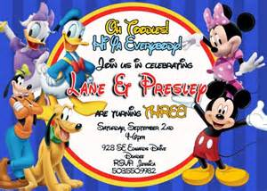 mickey mouse clubhouse birthday invitation kidinvites digital on artfire