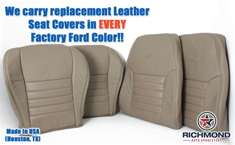 2000 mustang gt leather seat covers 2004 ford mustang gt driver side complete perforated