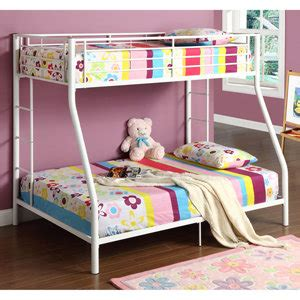 amazon bunk beds twin over full amazon com walker edison twin over full bunk bed white