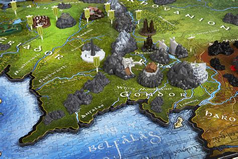 entire middle earth map 4d lord of the rings middle earth jigsaw puzzle