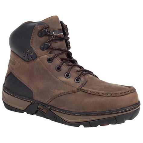 rocky 174 forge steel toe waterproof wedge boots darkwood