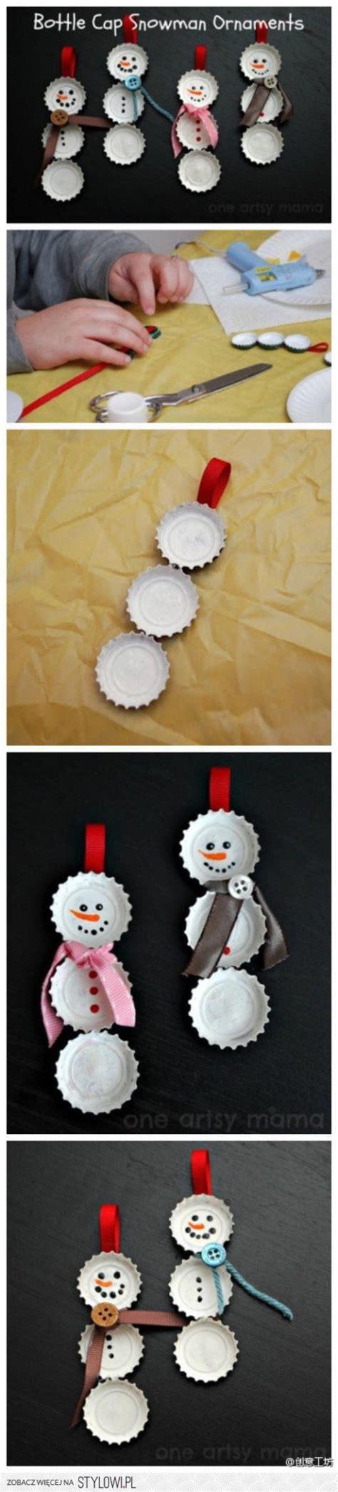 chrisymas nurse craft diy bottle cap snowmen ornaments pictures photos and images for