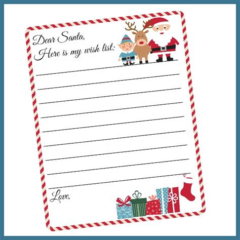 Free Printables 2 4 What Mommy Does Santa Wish List Template