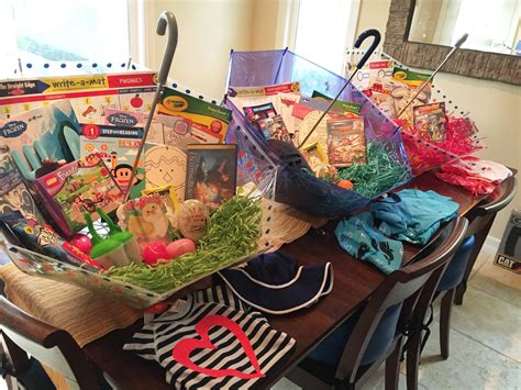 easter basket ideas make your own umbrella easter baskets non candy centered