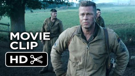 film drama brad pitt fury movie clip hold this crossroad 2014 brad pitt