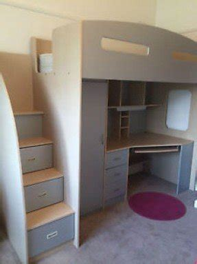bunk beds with built in desk and drawers loft bunk beds with desk and drawers foter