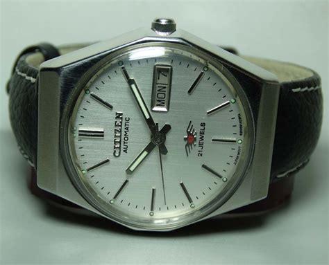 Citizen Automatic Vintage silver mens vintage citizen automatic day date wrist