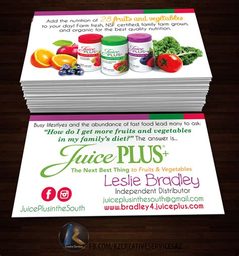 juice plus business card template juice plus business cards image collections business