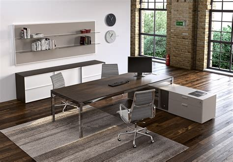 modern work desks metal wood modern work desk ambience dor 233