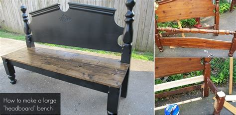 making a bench out of a bed how to make a pretty headboard bench j n roofing