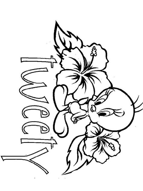 cute tweety bird coloring pages free printable cute