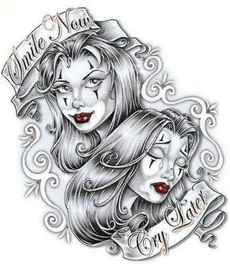 gangster clown tattoo designs gangsta images designs