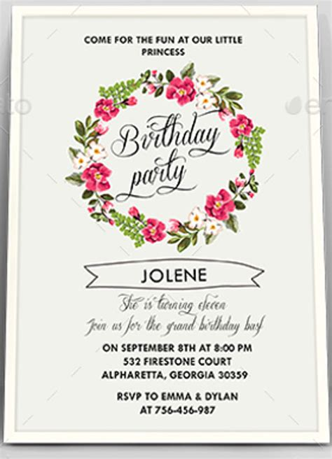 flower invitations templates free 6 floral invitation templates free psd ai vector eps