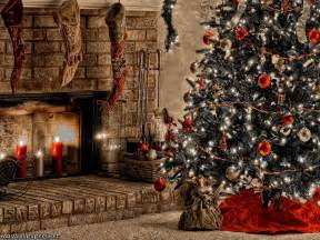 Candles For Fireplace Warm Christmas Fireplace 1600x1200 Wallpaper Free