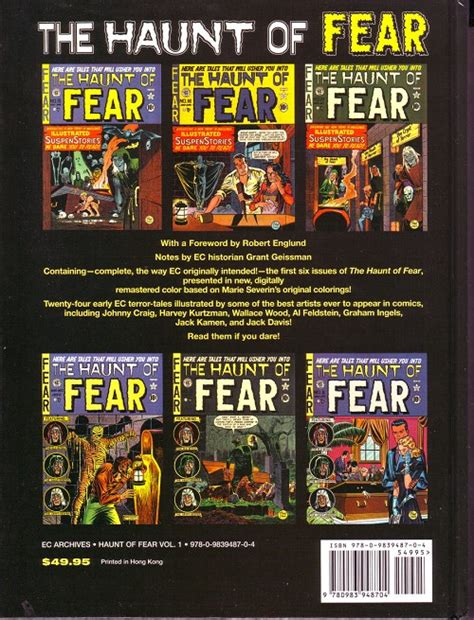 the ec archives the haunt of fear volume 5 ec archives the 91 the haunt of fear volume 1