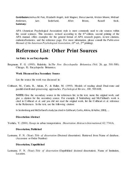 apa reference book revised edition apa
