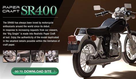 Yamaha Papercraft Motorcycle - paper craft yamaha sr400 bike exif