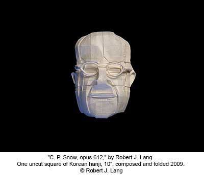 Robert J Lang Origami - robert j lang origami quot c p snow opus 612 quot by