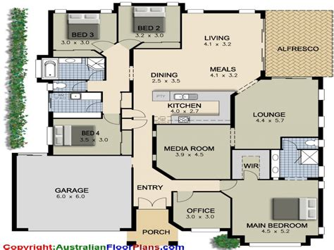 Plans For 4 Bedroom House by 4 Bedroom Ranch House Plans 4 Bedroom House Plans Modern