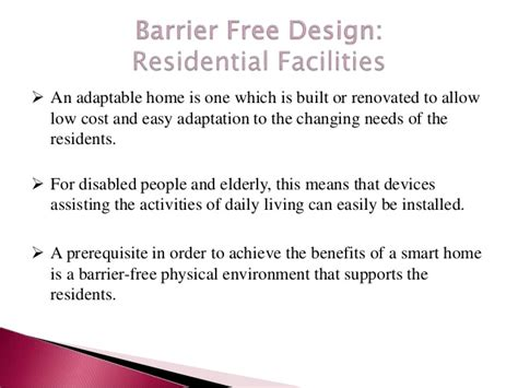 design barrier meaning barrier free architectural design