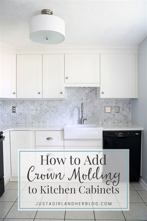 how to add crown molding to kitchen cabinets just a