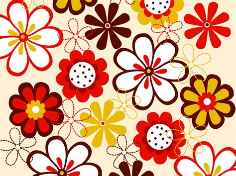 Flower Pattern Vector Graphics | vector flowers pattern