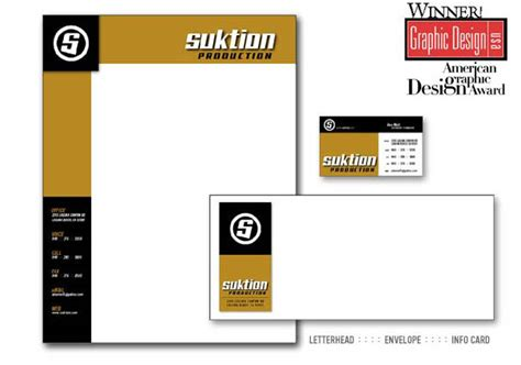 Award Winning Letterhead Suktion Award Winning Letterhead Design