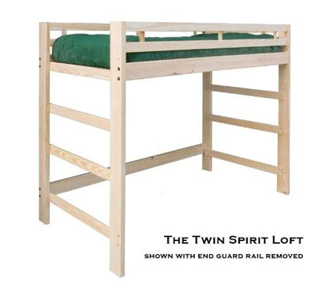 short loft bed full loft beds twin junior short height spirit loft bed