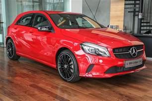 mercedes a class facelift debuts a180 line